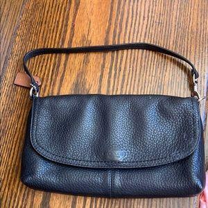 Coach small hand bag black
